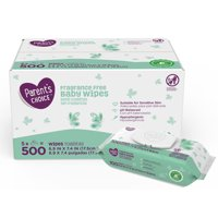 Parent's Choice Fragrance Free Baby Wipes, 5 packs of 100 (500 count)