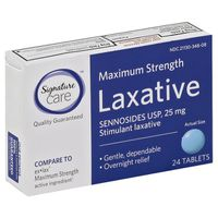 Signature Laxative, Maximum Strength, 25 mg, Tablets