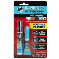 DAP RapidFuse All Purpose Fast Curing Adhesive with Plastic Primer