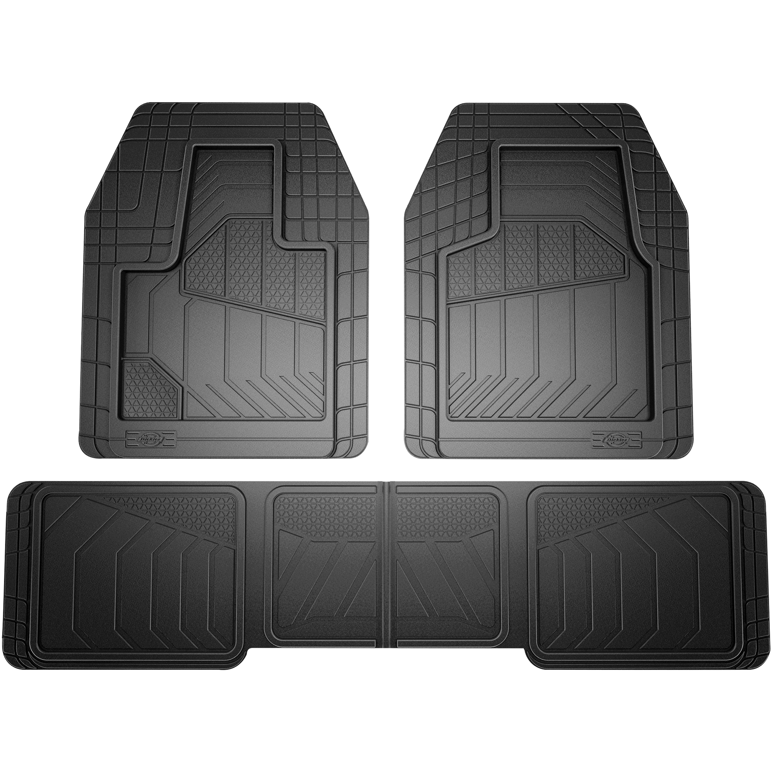Genuine Dickies 5 Piece Max Coverage Universal Fit Floor Mat Set, Black
