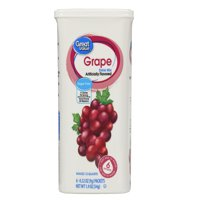 Great Value Sugar-Free Grape Drink Mix, 0.32 Oz., 6 Count