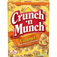 CRUNCH N MUNCH Caramel Popcorn with Peanuts 6 oz.