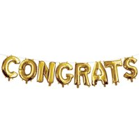 "Gold 16"" Congrats Balloon"