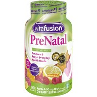 Vitafusion PreNatal Multivitamin Dietary Supplement Gummies - Lemon & Raspberry Lemonade - 90ct