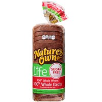 Nature's Own® Life Sugar Free 100% Whole Grain Bread 16 oz. Bag