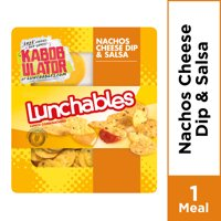 Lunchables Lunch Combinations Nacho Cheese Dip & Salsa, 4.4 oz Package