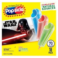 The Original Brand Popsicle Star Wars Ice Pops - 18ct/28oz