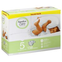 Signature Care Diapers, Size 5 (27+ lbs), Value Pack