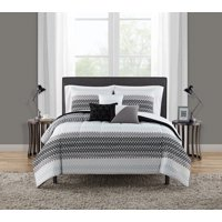 Mainstays Reversible Ombre Triangle 8-10 Piece Bed in a Bag Bedding Set w/BONUS Sheet Set + Pillows