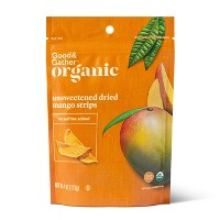 Organic Dried Unsweetened Mango Strips - 4oz - Good & Gather™