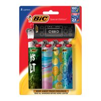 BIC Special Edition Pocket Lighter, Favorites Series - Pack of 5 Lighters (designs may vary)