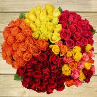 2 Dozen Premium Roses Rainforest Alliance Certified, Assorted Colors