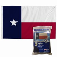 Valley Forge Flag 3' x 5' Nylon Texas State Flag with Canvas Header and Grommets