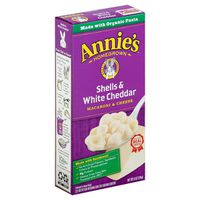 Annie's Homegrown Macaroni & Cheese, Shells & White Cheddar