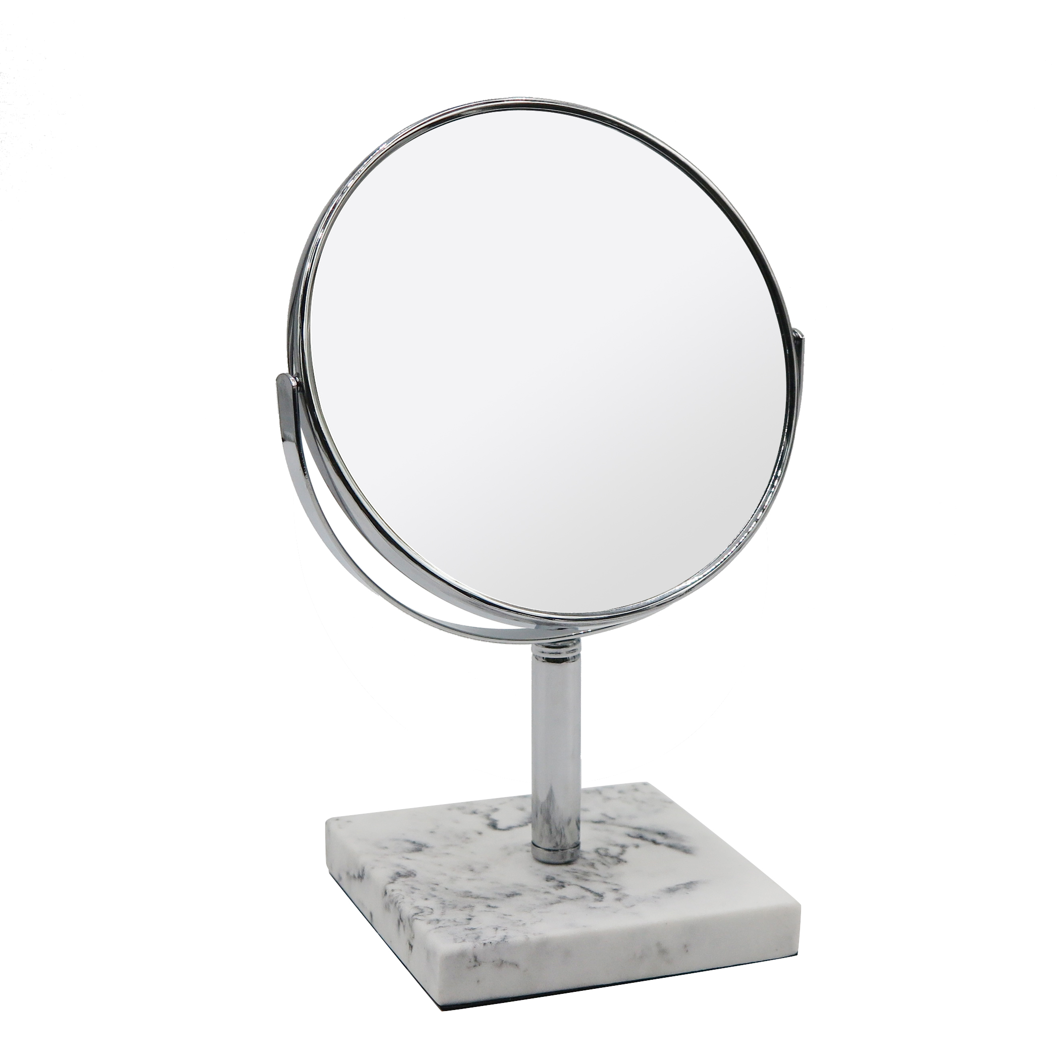 Better Homes & Gardens Faux Marble Double-Sided Vanity Mirror, White