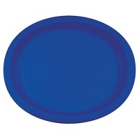 "Cobalt Blue 10"" x 12"" Oval Platters - 8ct"