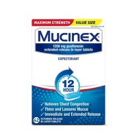 Mucinex SE Maximum Strength Cough & Congestion Relief Extended Release Tablets - Guaifenesin - 42ct