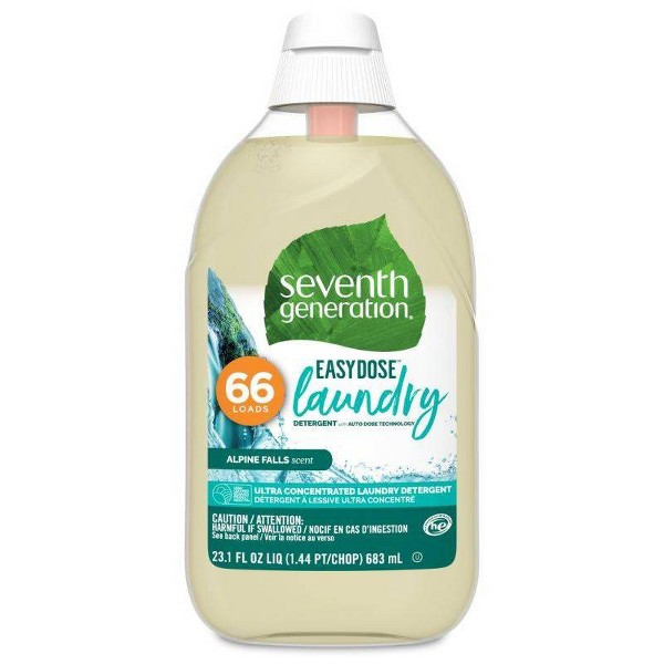 Seventh Generation EasyDose Ultra-Concentrated Laundry Detergent - Alpine Falls - 23.1 fl oz