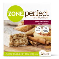 ZonePerfect Nutrition Bar, Cinnamon Roll, 15g Protein, 5 Ct