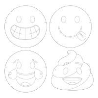 12ct Show Your Emojicons Color Your Own Mask