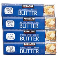 Kirkland Signature Salted Butter Quarters, 4 x 16 oz