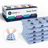 LinnieLou Baby Powder Scented Disposable Diaper Sacks
