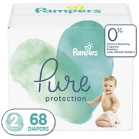 Pampers Pure Protection Natural Diapers, Size 2, 68 Ct