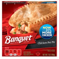 Banquet Frozen Pot Pie Dinner, Chicken, 7-Ounce