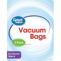Great Value Hoover Style A Vacuum Bag, 3-Pack, 2332