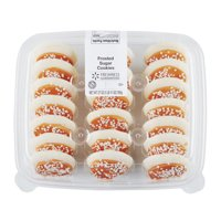 Freshness Guaranteed Orange & White Game Time Frosted Sugar Cookies, 27 oz, 20 Count