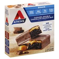 Atkins Snack Bar Caramel Double Chocolate Crunch - 5 CT