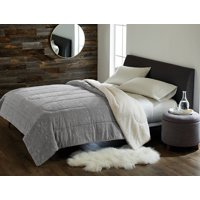 Better Homes and Gardens Reversible Plaid Velvet Sherpa Comforter