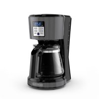 BLACK+DECKER 12-Cup* Coffeemaker, Programmable, Exclusive VORTEX™ Technology, Premium Black Stainless Steel Finish, Black, CM1331BS