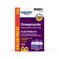 Equate Omeprazole Delayed Release Tablets 20 mg, treats frequent heartburn, 42 Count