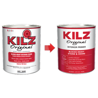 Kilz Original Oil-Base Interior Primer, Sealer & Stainblocker, White - New Look, Same Trusted Formula