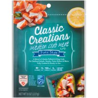Classic Creations Flake Style Imitation Crab Meat 8 oz. Pouch