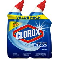 Clorox Toilet Bowl Cleaner With Bleach, Rain Clean - 24 Ounces, 2 Pack