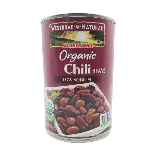 Organic Low Sodium Chili Beans, 15 oz
