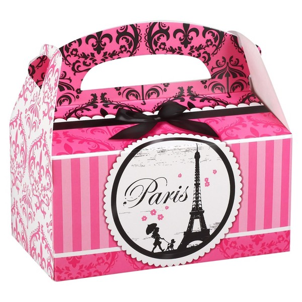 8 ct Paris Damask Favor Boxes