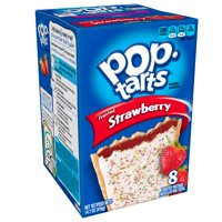 Kellogg's Pop-Tarts Breakfast Toaster Pastries, Frosted Strawberry Flavored, 14.7 oz 8 Ct