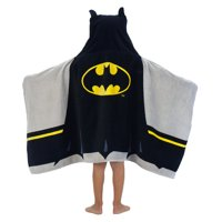 Batman Kids Hooded Bath Towel, 24in x 50in, 100% Cotton, 1 Each
