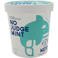 Keto Frozen Dessert, No Judge Mint, Mint + Dark Chocolate Chips