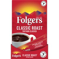 Folgers Classic Roast Instant Coffee, Single Serve Packets