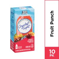 Crystal Light Sugar Free Fruit Punch Powdered Drink Mix, 10 ct - 0.9 oz Packets