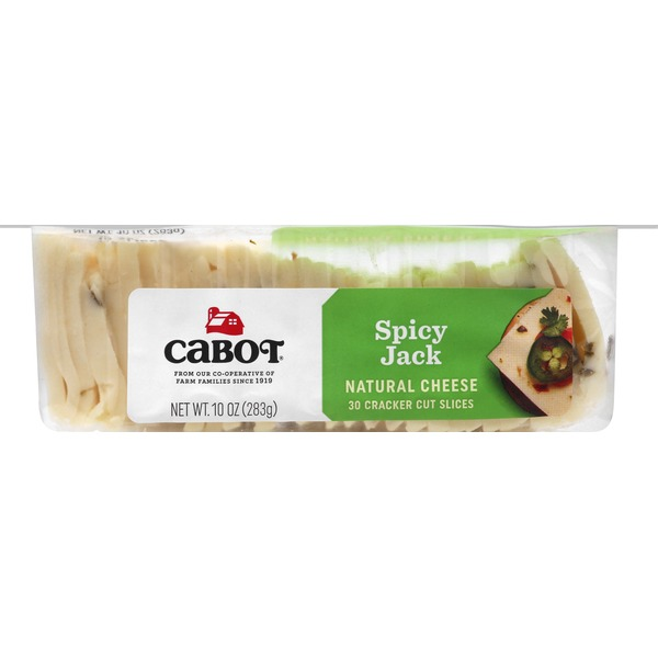 Cabot Creamery Cracker Cut Pepper Jack Cheese Slices