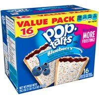 Kellogg's Pop-Tarts, Frosted Blueberry Flavored, 29.3 oz 16 Ct