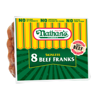 Nathan's Famous Skinless Beef Franks, 14 Oz., 8 Count