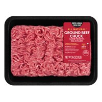All Natural* 80% Lean/20% Fat Ground Beef Chuck Tray, 1 lb
