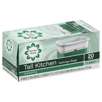 Signature Select Garbage Bags, Tall Kitchen, Drawstring