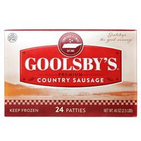 Goolsby's Country Sausage Patties, 40 oz